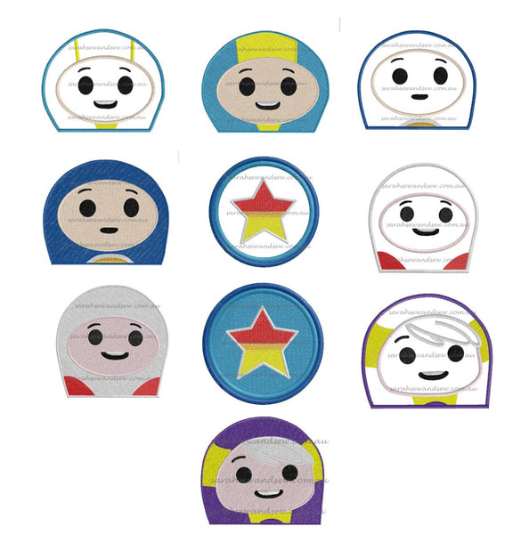 Go Jetters Peeeker Embroidery Design Set - Sarah Sew and Sew