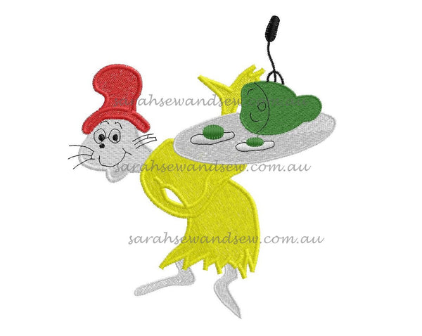 Green Eggs and Ham Embroidery Design - Sarah Sew and Sew