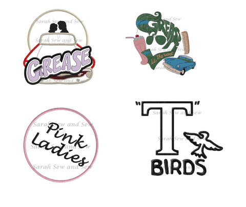Grease Embroidery Design Set