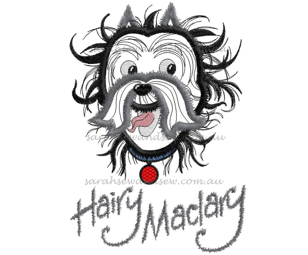 Hairy Maclary Embroidery Design