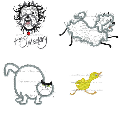 Hairy Maclary Embroidery Design Set