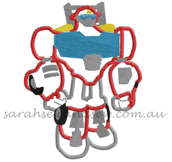 Heatwave Transformers Rescue Bot Embroidery Design Set