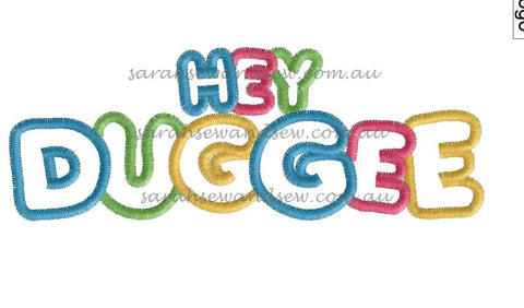 Hey Duggee Logo Embroidery Design - Sarah Sew and Sew