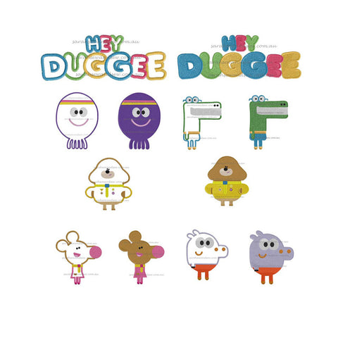Hey Duggee Embroidery Design Set - Sarah Sew and Sew