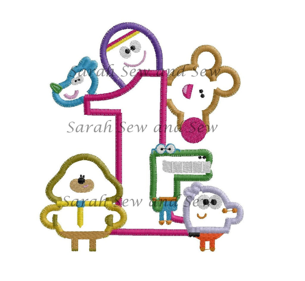 Hey Duggee Collage No 1 Embroidery Design