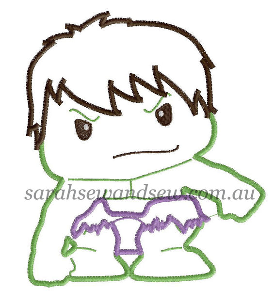 Hulk Embroidery Design - Sarah Sew and Sew