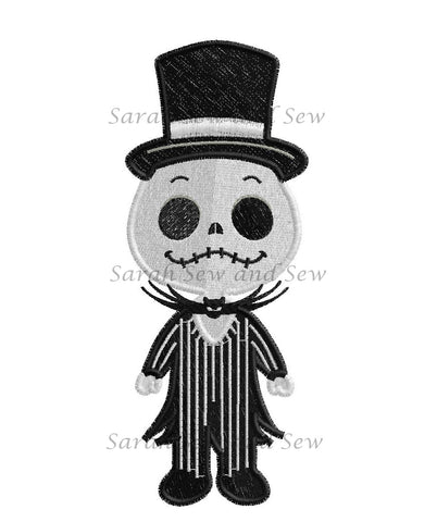 Jack Nightmare Before Christmas Embroidery Design