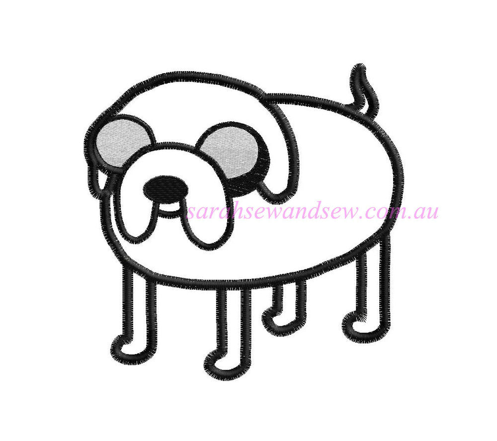 Jake (dog) - Adventure Time Embroidery Design - Sarah Sew and Sew