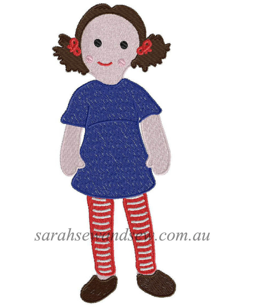 Jemima (Playschool) Embroidery Design - Sarah Sew and Sew