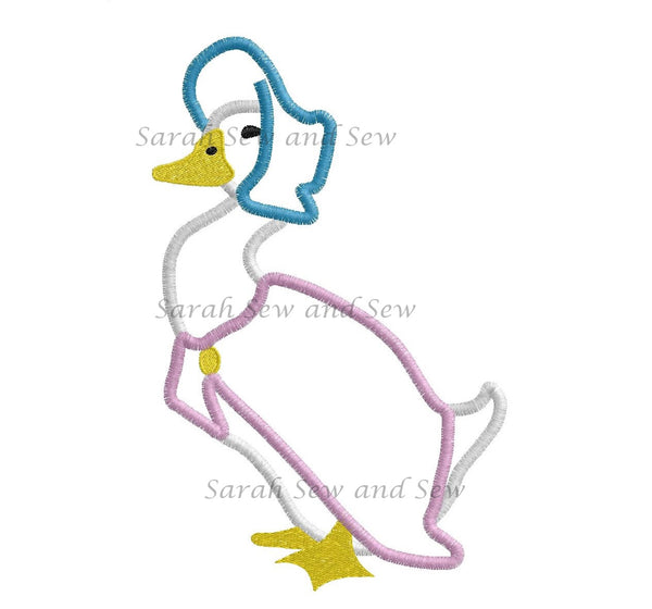 Jemima Puddleduck Embroidery Design