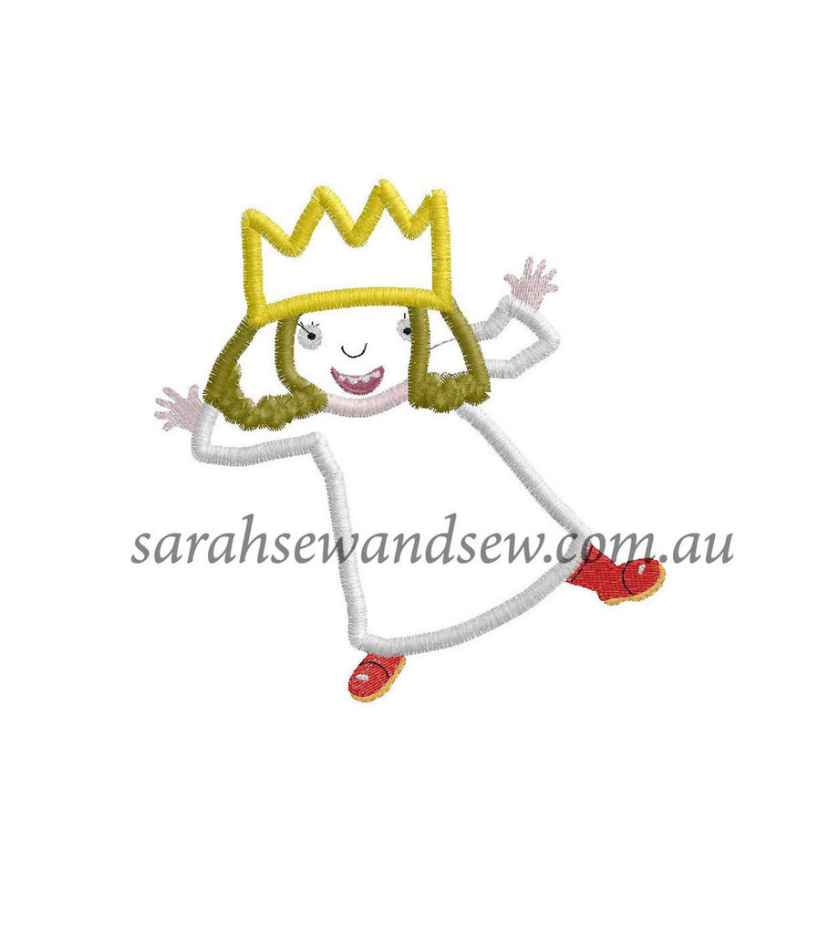 Little Princess Embroidery Design - Sarah Sew and Sew