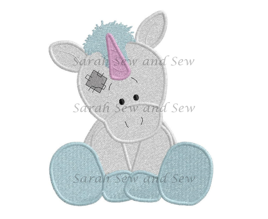 Legend Blue Nosed Friends Embroidery Design - Sarah Sew and Sew
