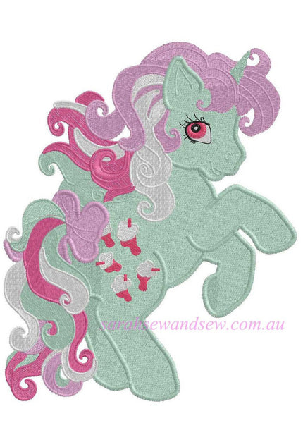 Fizzy My Little Pony Embroidery Design - Sarah Sew and Sew