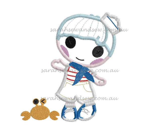 Matey Anchors Embroidery Design - Lalaloopsy
