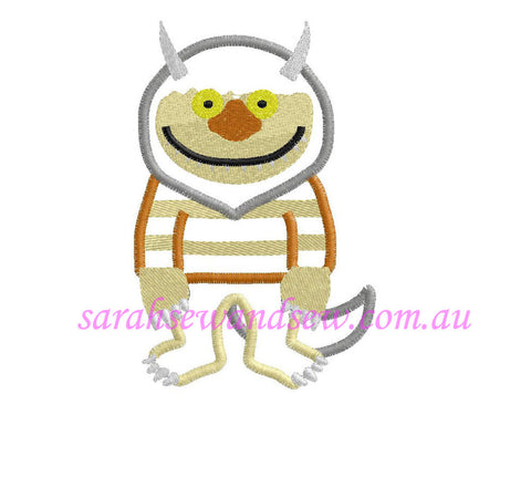 Where the Wild Things Are (Monster) Embroidery Design (Applique) - Sarah Sew and Sew