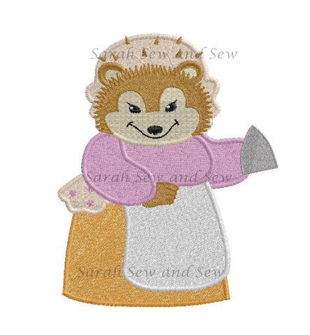 Mrs Tiggywinkle Embroidery Design - Sarah Sew and Sew