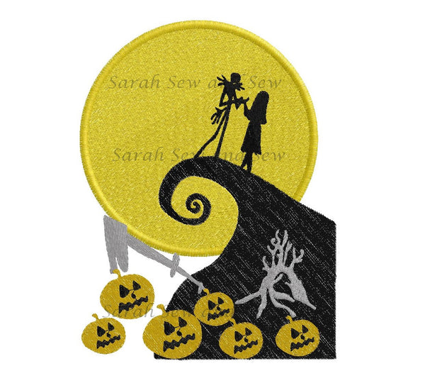 Jack and Sally Embroidery Design