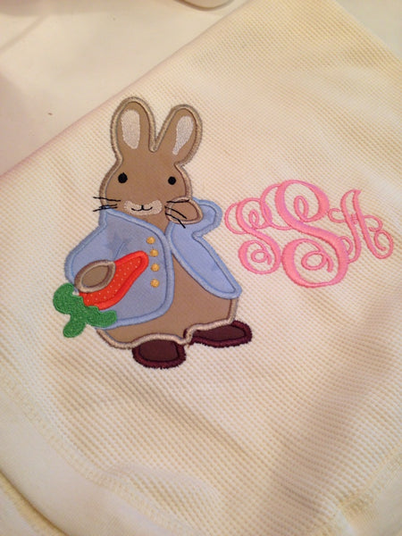 Peter Rabbit Embroidery Design - Sarah Sew and Sew