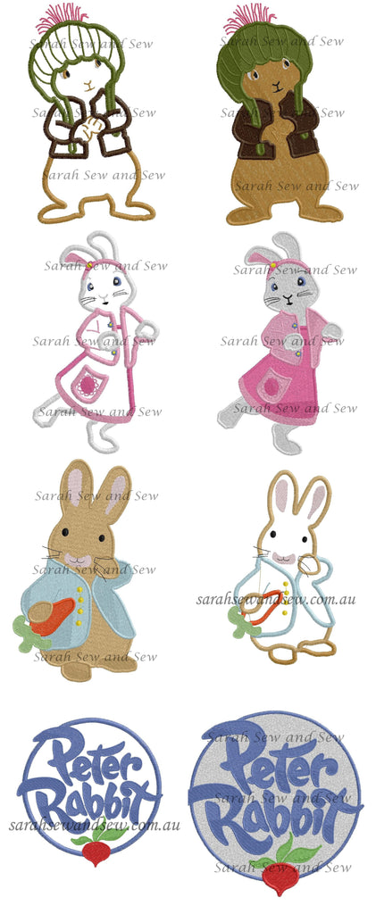 Peter Rabbit Embroidery Design Set