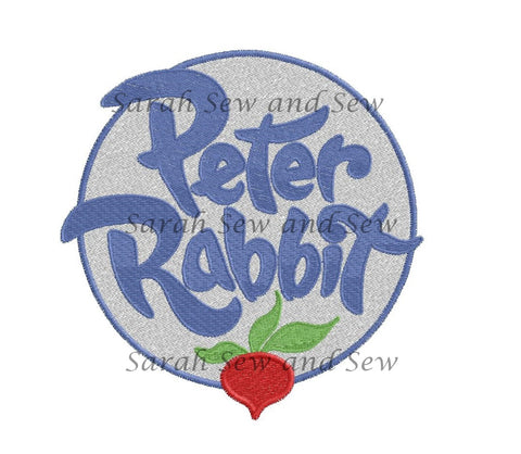 Peter Rabbit Logo Embroidery Design
