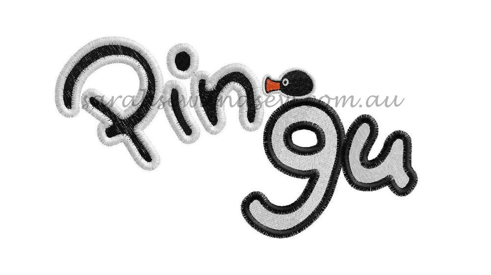 Pingu Logo Embroidery Design - Sarah Sew and Sew