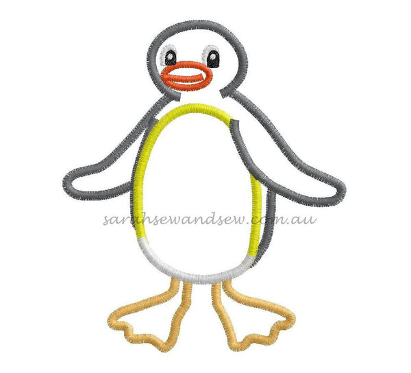 Pingu Embroidery Design - Sarah Sew and Sew