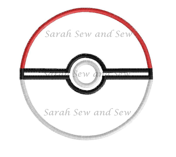 Pokemon Ball Embroidery Design