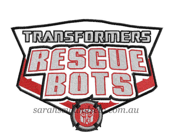 Transformers Rescue Bots Logo Embroidery Design - Sarah Sew and Sew