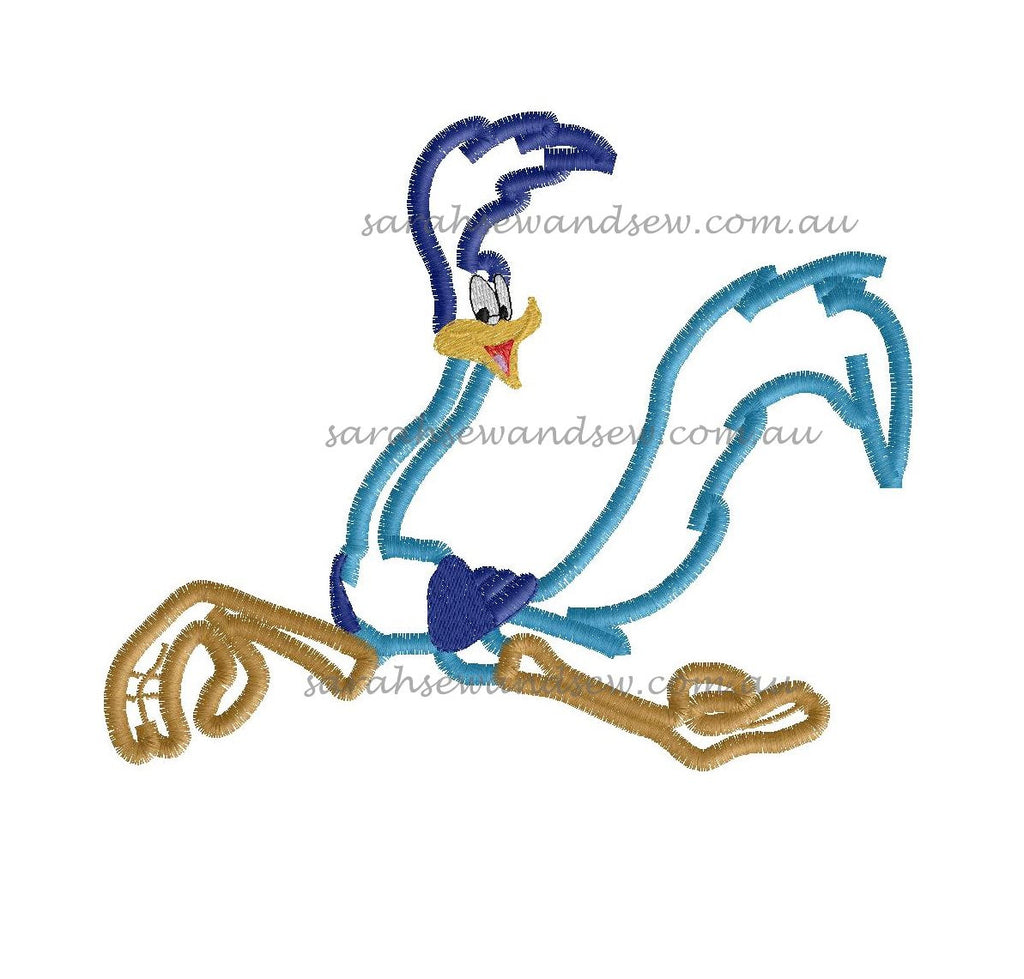 Road Runner Looney Tunes Embroidery Design - Sarah Sew and Sew
