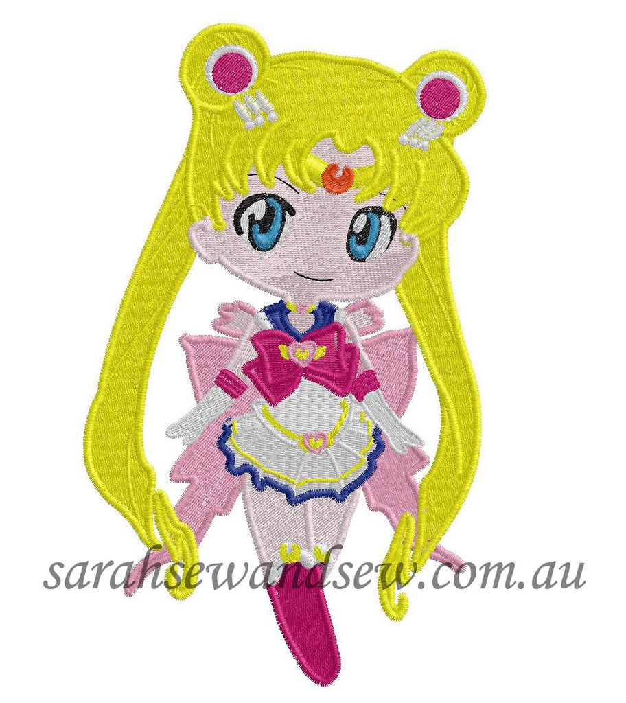 Sailor Moon Embroidery Design (Sailor Moon Cutie) - Sarah Sew and Sew