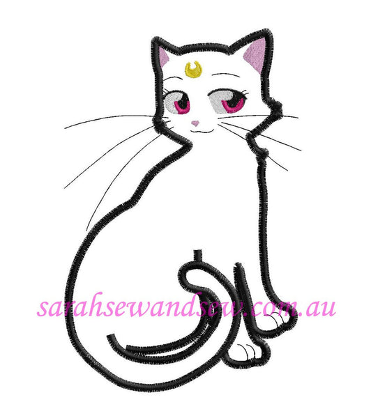 Sailor Moon Cat Embroidery Design (Sailor Moon Cutie) - Sarah Sew and Sew