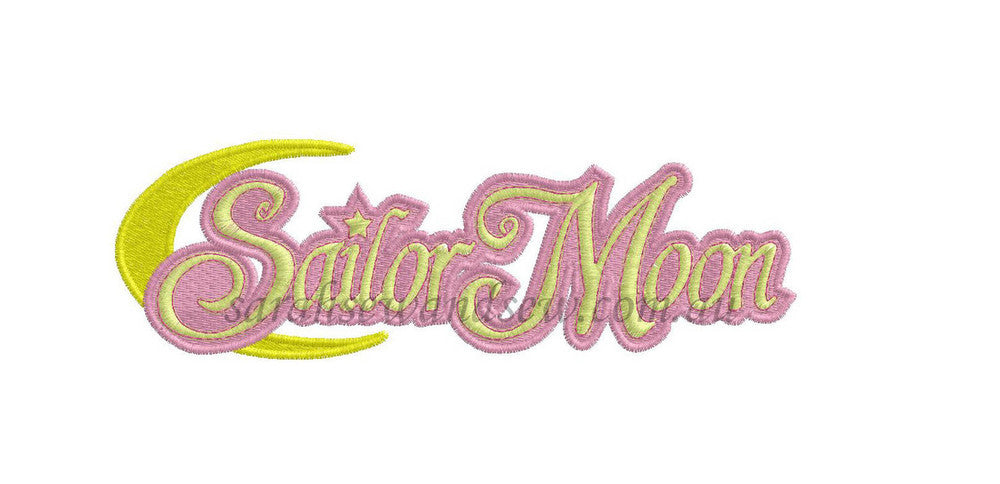 Sailor Moon Logo Embroidery Design (Sailor Moon Cutie) - Sarah Sew and Sew