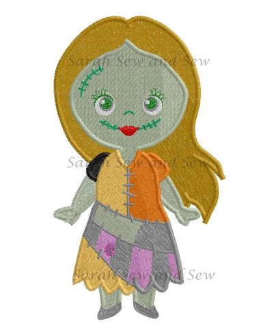 Sally Nightmare Before Christmas Embroidery Design