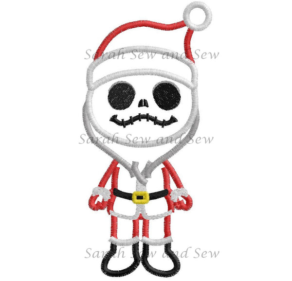 Jack (Santa) Nightmare Before Christmas Machine Embroidery Design - Sarah Sew and Sew