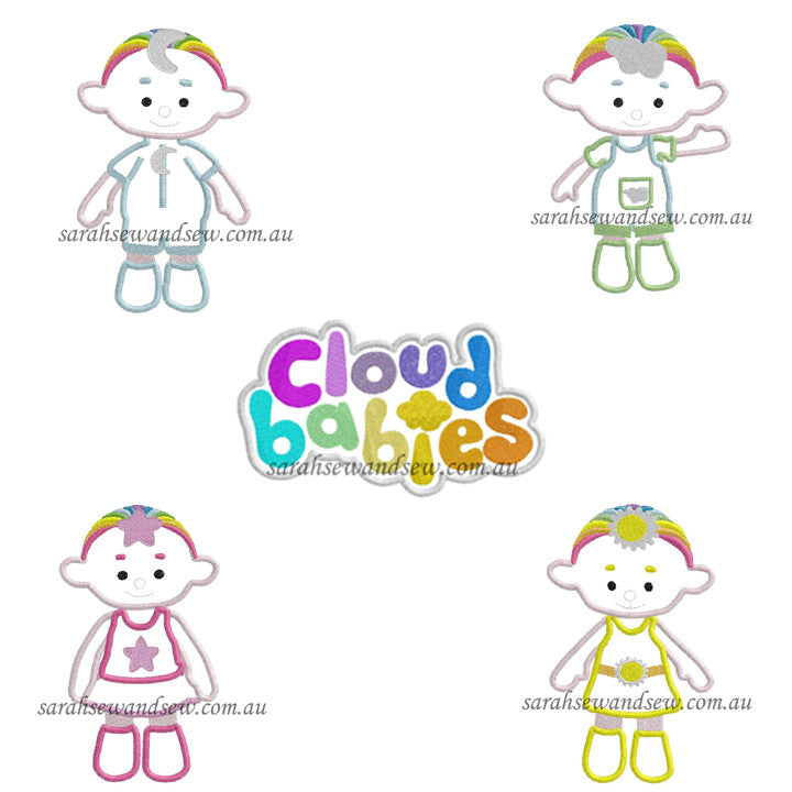 Cloud Babies Embroidery Design Set - Sarah Sew and Sew