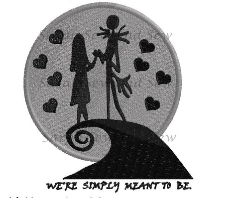 Jack and Sally - Meant to be - Embroidery Design