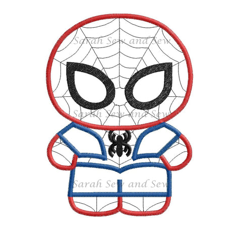 Spiderman Embroidery Design - Sarah Sew and Sew