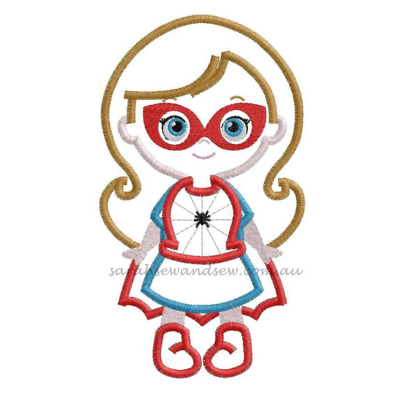 Super Hero Girls Cutie Embroidery Design Set - Sarah Sew and Sew