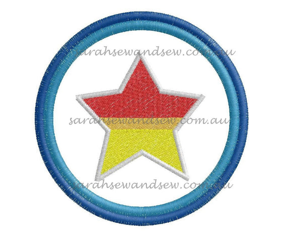 Go Jetters Star Embroidery Design - Sarah Sew and Sew