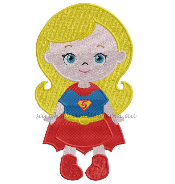 Super Hero Girls Cutie Embroidery Design (Applique & Filled) Set