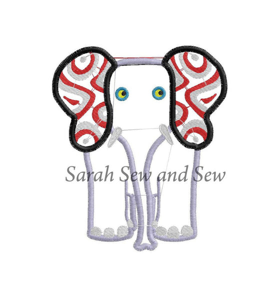 Tinga Tinga Tales Elephant Embroidery Design - Sarah Sew and Sew