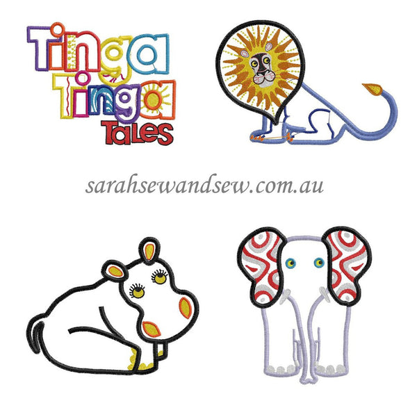 Tinga Tinga Tales Set Embroidery Design - Sarah Sew and Sew