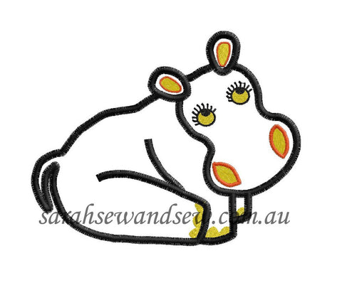 Tinga Tinga Tales Hippo Embroidery Design - Sarah Sew and Sew