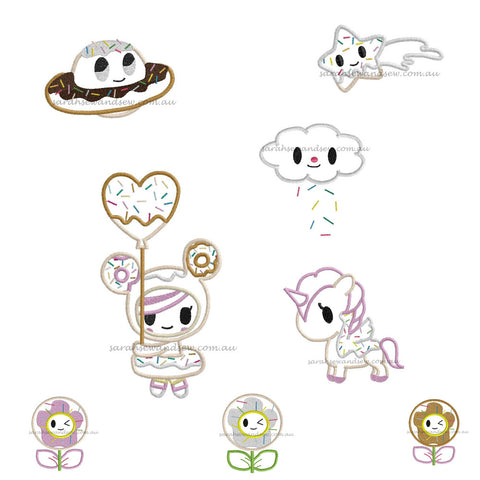 Tokidoki EIGHT Embroidery Design Set - Sarah Sew and Sew