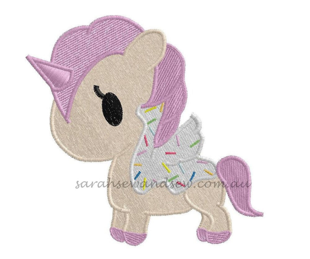 Tokidoki Unicorn Machine Embroidery Design - Sarah Sew and Sew