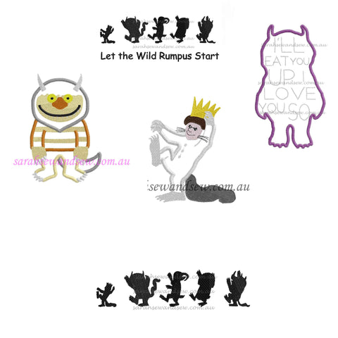 Where the Wild  Things Are Embroidery Design Set