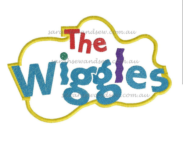 The Wiggles Logo Embroidery Design - Sarah Sew and Sew