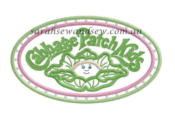 Cabbage Patch Kids Logo Embroidery Design - Sarah Sew and Sew