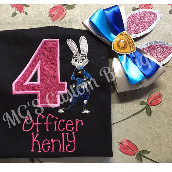 Judy Hopps Embroidery Design - Sarah Sew and Sew