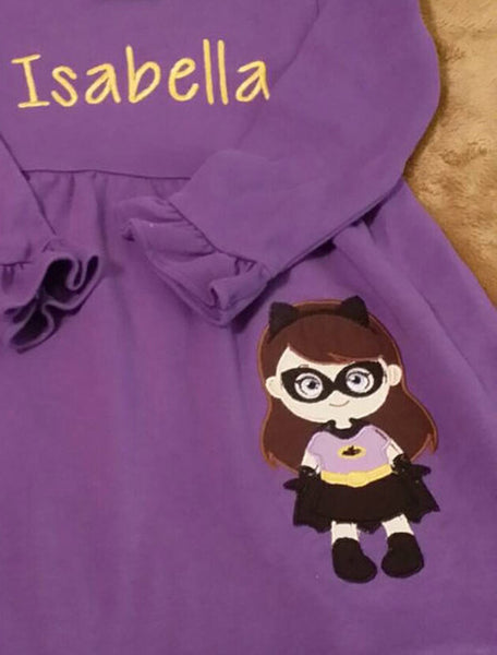 Batgirl Embroidery Design - Sarah Sew and Sew